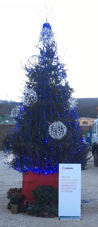 albero di Natale ad Amatrice 1
