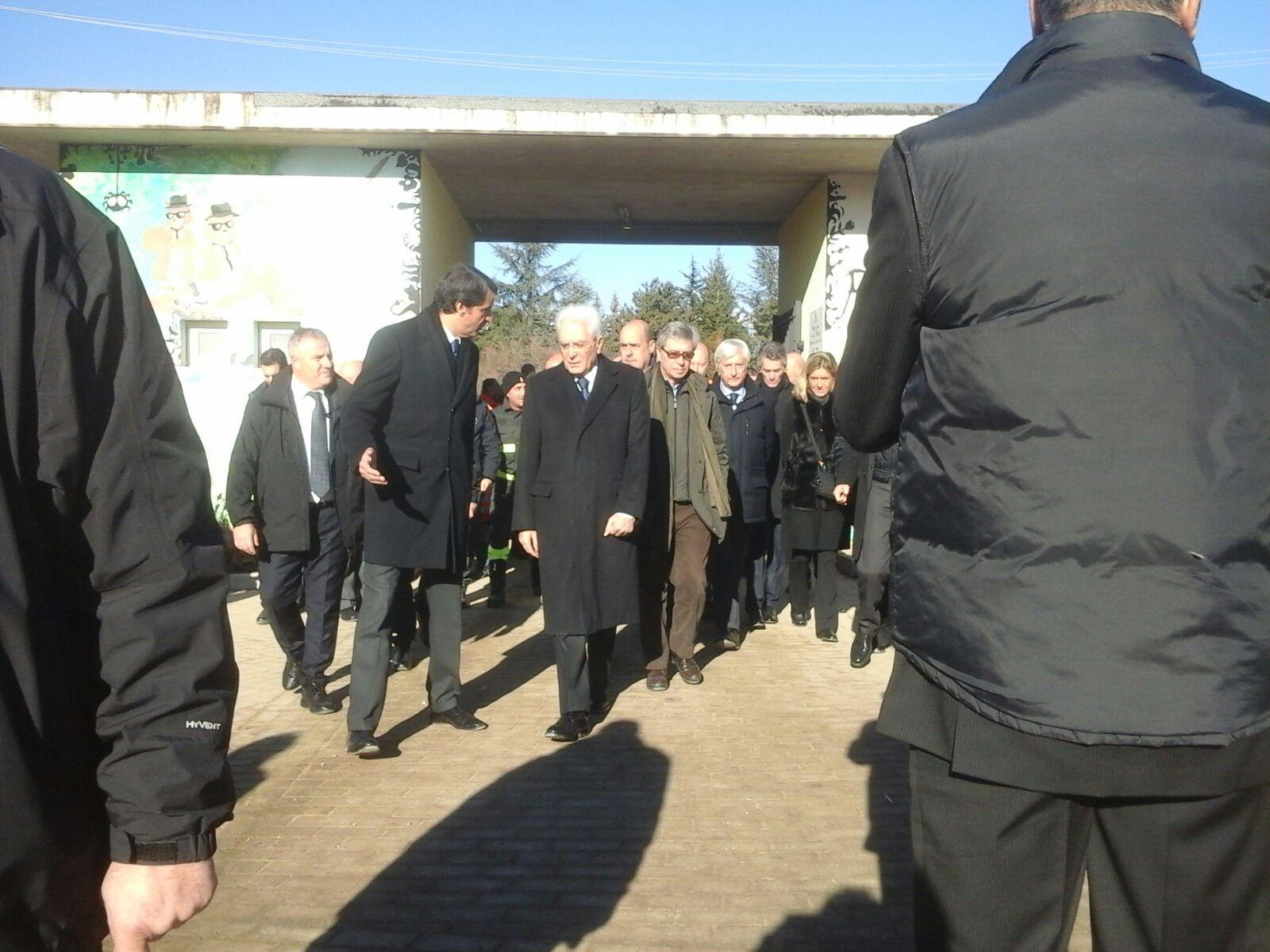 Sisma Centro Italia – visita Presidente della Repubblica