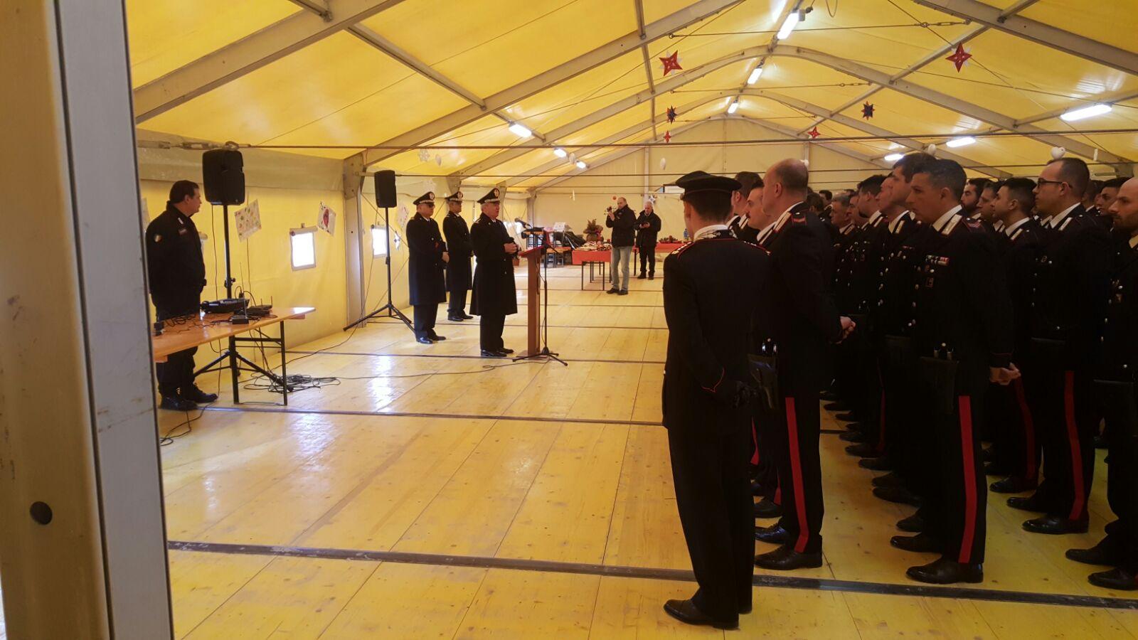 Sisma Centro Italia – Visita dei Carabinieri della Regione Lazio ad Amatrice