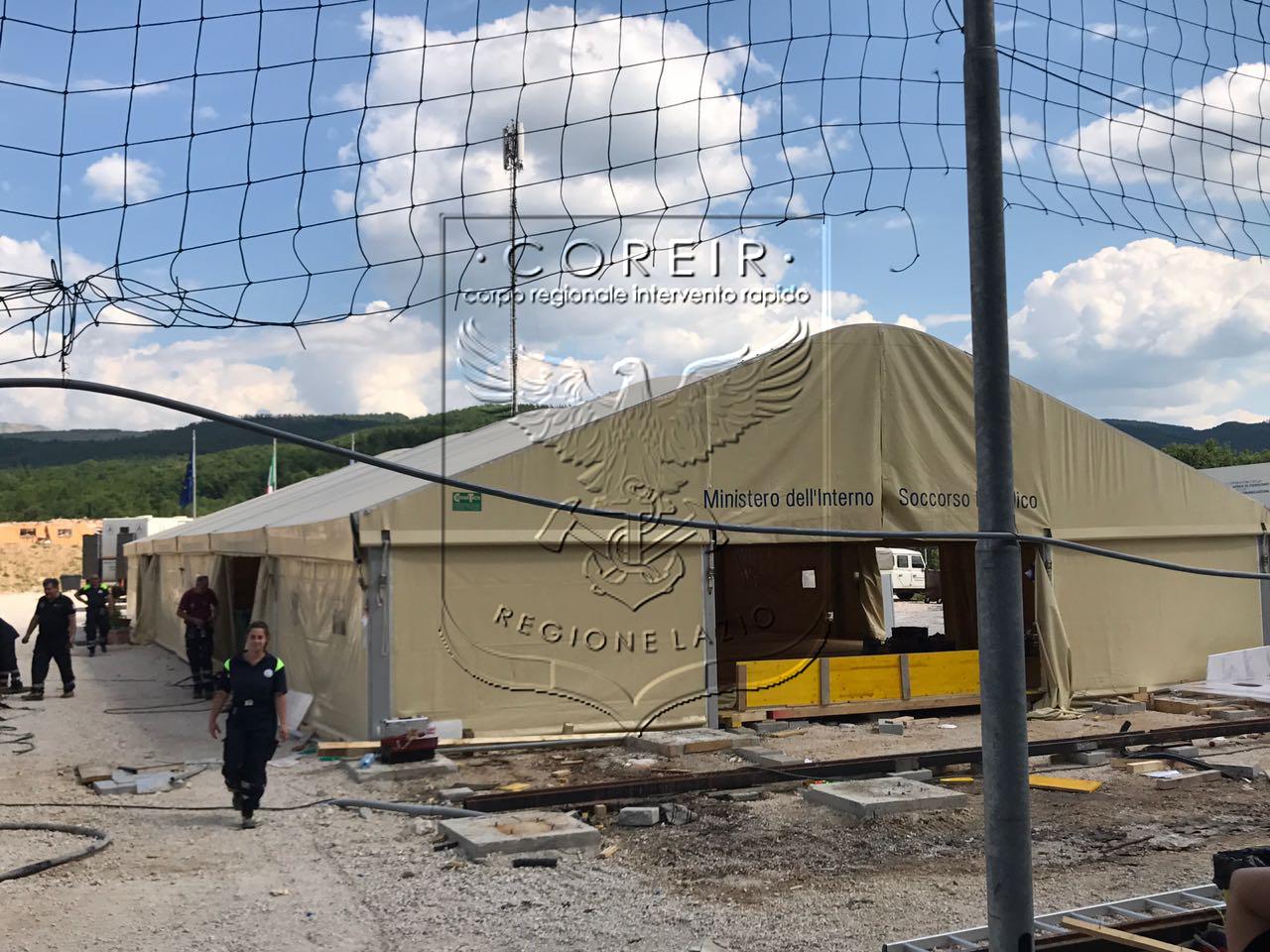 Sisma Centro Italia – Smontaggio Area di Assistenza alla Popolazione e Supporto Logistico